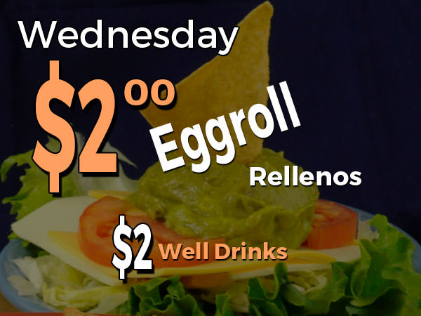 Wenesday Special: $2.00 eggroll rellenos